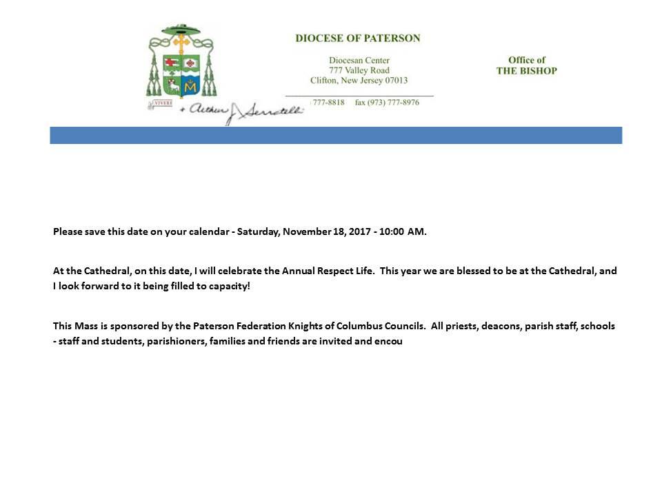 Bishops Letter
